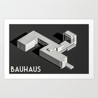 bauhaus Art Prints featuring Bauhaus by Max Wittebol