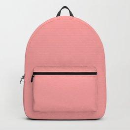 Coral Pink Pastel Solid Color Block Backpack