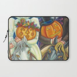 SLEEPY HOLLOW WEDDING - Brack Headless Horseman Halloween Art Laptop Sleeve