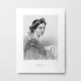 Imogen Victorian Reproduction Metal Print