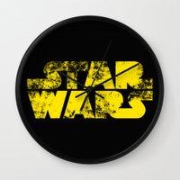 starwars Wall Clocks featuring StarWars  by WaXaVeJu