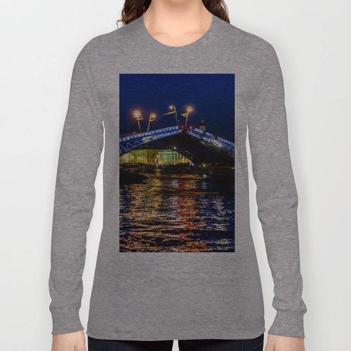 Raising bridges in St. Petersburg Long Sleeve T-shirt