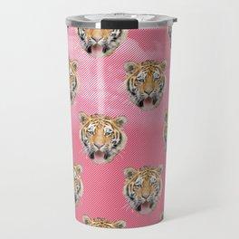 TIGER PINK PATTERN Travel Mug
