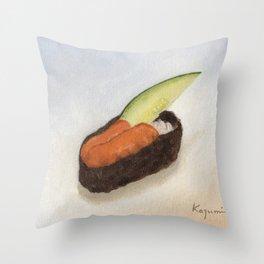 Uni Sushi Throw Pillow