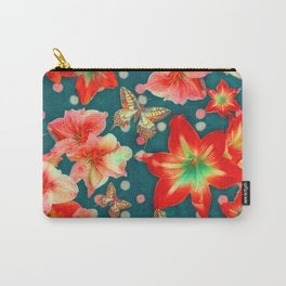 Amaryllis and Butterflies 2 Carry-All Pouch