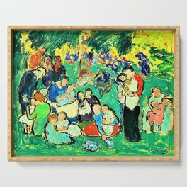 Pablo Picasso - Children in the Luxembourg Gardens - Digital Remastered Edition Serving Tray