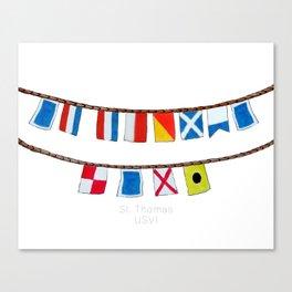 St Thomas Nautical Flags Canvas Print