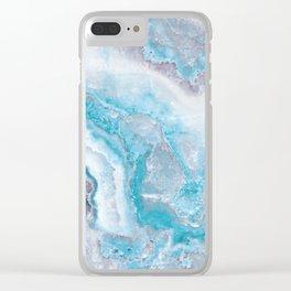 Ocean Foam Mermaid Marble Clear iPhone Case