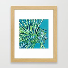 Lion Fish 1, a pretty predator Framed Art Print