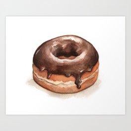 Chocolate Glazed Donut Art Print