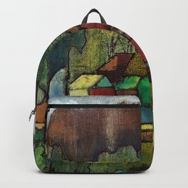 Village by Dennis Weber of ShreddyStudio Backpack