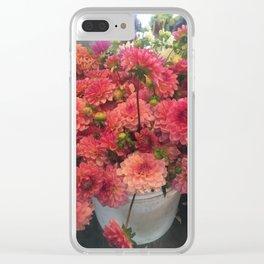 Dahlia Love Clear iPhone Case