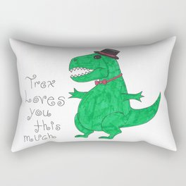 Trex loves you Rectangular Pillow