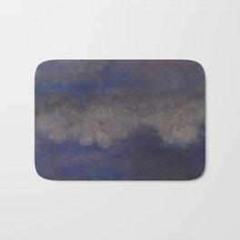 WaterColor Navy Blue Print Bath Mat
