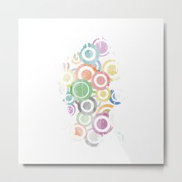 Full Circles Colorful. Ccool and funny Design Metal Print