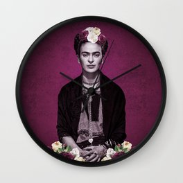 Pink Frida Wall Clock