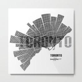 Toronto Map Metal Print