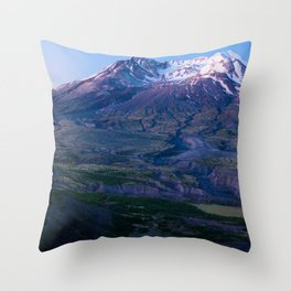Mt. St. Helens Mountain Hiking Adventure Volcano Throw Pillow
