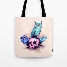 Skull & Owls Tote Bag