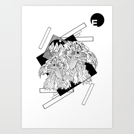 E for Eagle Art Print