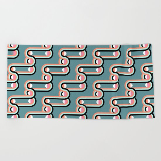 UNCHAINED PATTERN (abstract geometric) Beach Towel