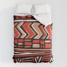 Aztec lino print Duvet Cover