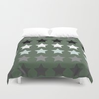 army Duvet Covers featuring Army stars by kongkongdigital
