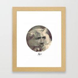 """fig.1"" grey Framed Art Print"