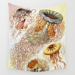 SEA CREATURES COLLAGE-Ernst Haeckel Wall Tapestry