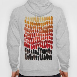 Red Orange Yellow Gradient Natural Patterns Colorful Watercolor Abstract Art Mid Century Modern Art Hoody