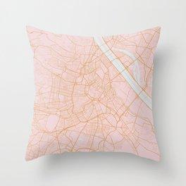Vienna map Throw Pillow