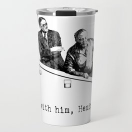 James Joyce x Ernest Hemingway - Drunken Shenanigans Painting Travel Mug