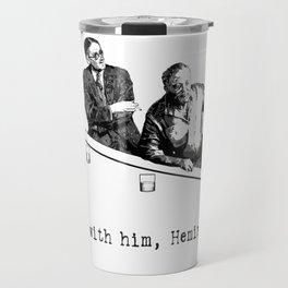 James Joyce x Ernest Hemingway - Drunken Shenanigans Painting Travel Mug