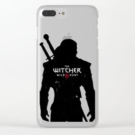 Geralt Silhouette Clear iPhone Case
