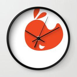 emblem of a red rhinoceros Wall Clock