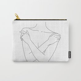 Crossed arms illustration - Joyce Carry-All Pouch