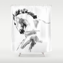 Young Beautiful Horse Shower Curtain