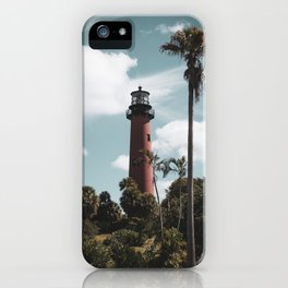 Jupiter Lighthouse Colorized Coastal Landscape Photo iPhone Case