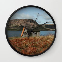 Cabin in the Westfjords of Iceland Wall Clock
