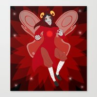 homestuck Canvas Prints featuring red but not dead by Tani