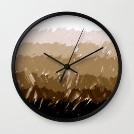 Shades of Sepia Wall Clock