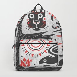 Forest and animals illustration Backpack