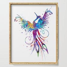 Phoenix Watercolor Print Nursery Art Gift for Her Bird Art Serving Tray