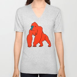 The Orange Gorilla Unisex V-Neck