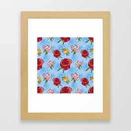 Rose pattern Framed Art Print