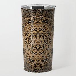 Mandala Project 260   Gold Filigree Travel Mug