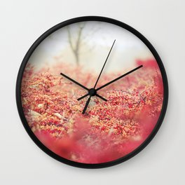 Fog in the Bushes Wall Clock