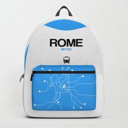 Rome Blue Subway Map Backpack