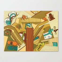 Monsters on Stairs Canvas Print