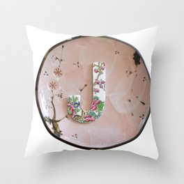 Love Letters to Dinnerware - J Throw Pillow